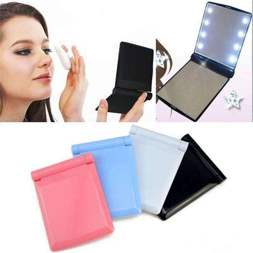 LED Foldable Vanity Mirror: makeup tools- Shop MIXXCI
