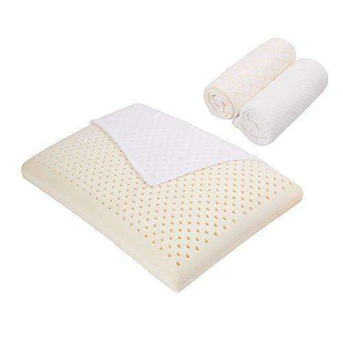 Ledia Latex Memory Foam Pillow, 100% Natural Latex Ventilated Core With 3 Zippered Covers-1 Inner Cover And 2 Outer Covers,Side Sleeper High Loft And Ergonomic Soft Pillow,Standard 1-Pack: - Shop MIXXCI