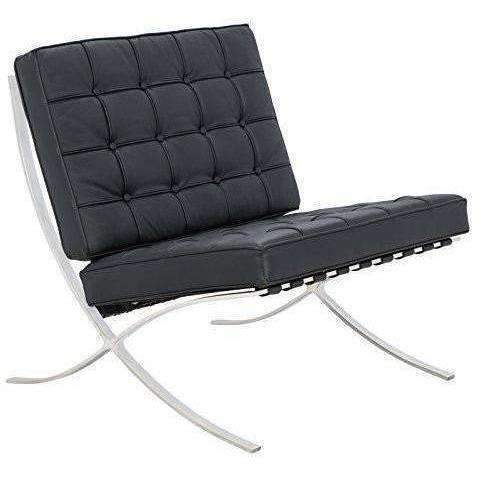 Leisuremod Bellefonte Modern Leather Pavilion Chair In Black: Living Room- Shop MIXXCI