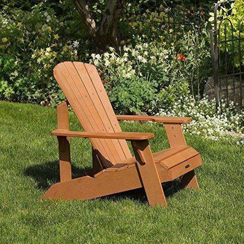 Lifetime Faux Wood Adirondack Chair, Light Brown - 60064: Patio Chairs- Shop MIXXCI