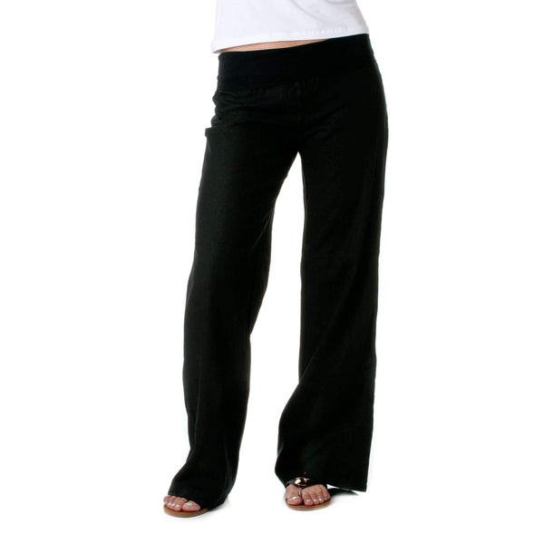Love Tree Women'S Fold-Over Waist Linen Pants: Womens Casual Pants & Capris- Shop MIXXCI