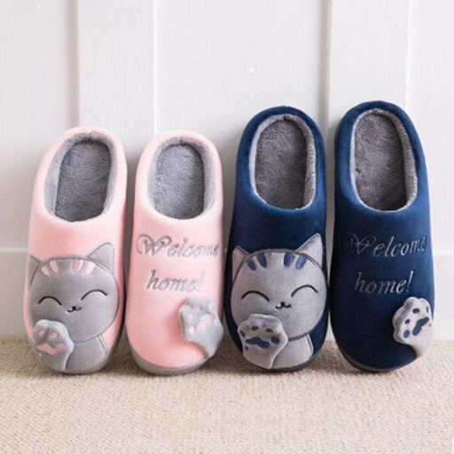 Lovely Cat Cotton Cloth Art Lovers Slippers: shoes- Shop MIXXCI