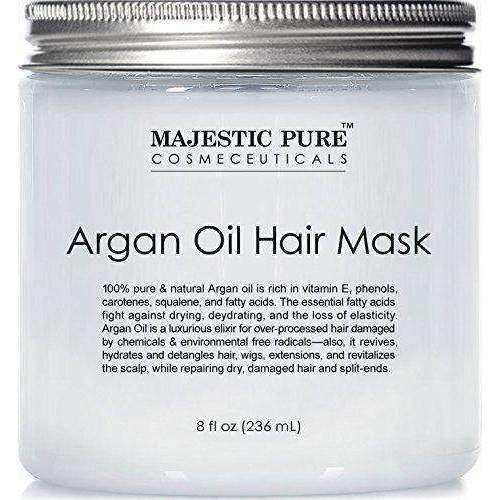 Majestic Pure Argan Oil Hair Mask, Natural Hair Care Product, Hydrating & Restorative Hair Repair Mask - 8 Fl Oz: Hair Care Products- Shop MIXXCI