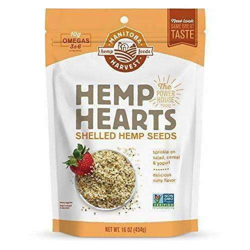 Manitoba Harvest Hemp Hearts Raw Shelled Hemp Seeds, Natural, 1 Pound: Grocery & Gourmet Food- Shop MIXXCI