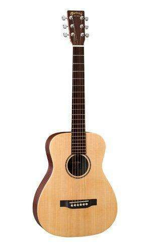 Martin Lx1E Acoustic Guitar W/ Fishman Sonitone Electronics Solid Sitka Spruce Top Modified O-14 Fret Body Inlaid Boltaron W/Red: - Shop MIXXCI