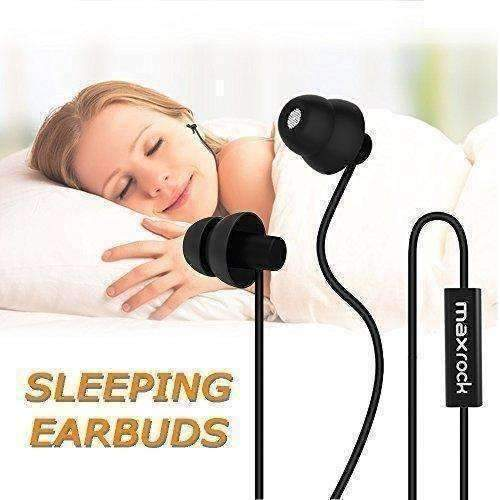 Maxrock Sleep Earplugs - Noise Cancelling Ear Plugs Sleep Earbuds Headphones With Unique Total Soft Silicone Perfect For Insomnia, Side Sleeper, Snoring, Air Travel, Meditation & Relaxation (Black): New- Shop MIXXCI