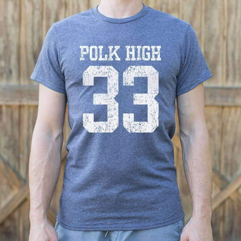 Mens Polk High Number 33 Football T-Shirt: T-Shirt- Shop MIXXCI