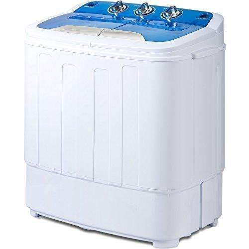 Merax Portable Mini Compact Twin Tub Washing Machine And Washer Spin Cycle, Fcc Verification (Blue&White): Appliances- Shop MIXXCI