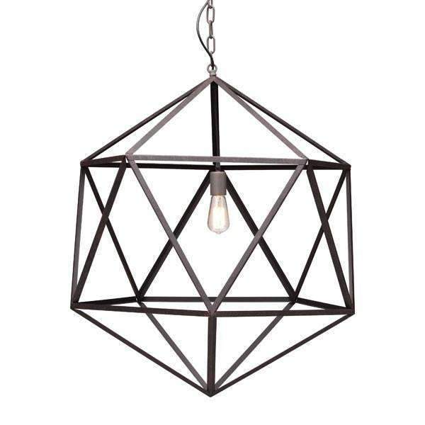 Modern Amethyst Ceiling Lamp Large, Default Title: Living Room Furniture- Shop MIXXCI
