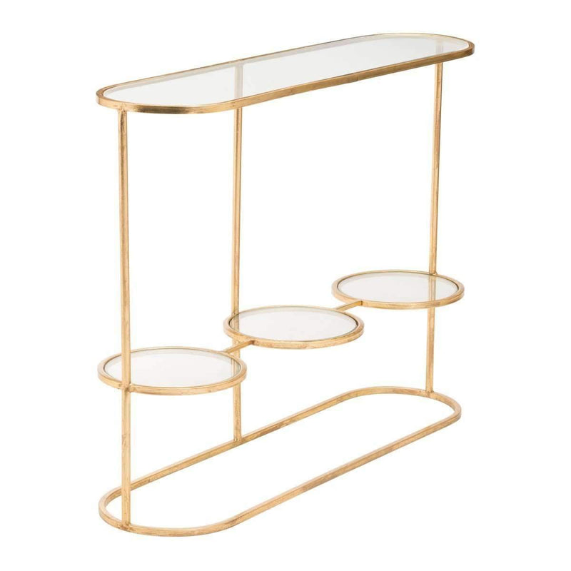 Modern Aron Console Table Gold, Default Title: Living Room Furniture- Shop MIXXCI