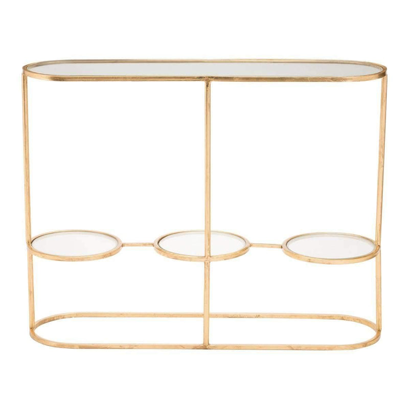 Modern Aron Console Table Gold: Living Room Furniture- Shop MIXXCI