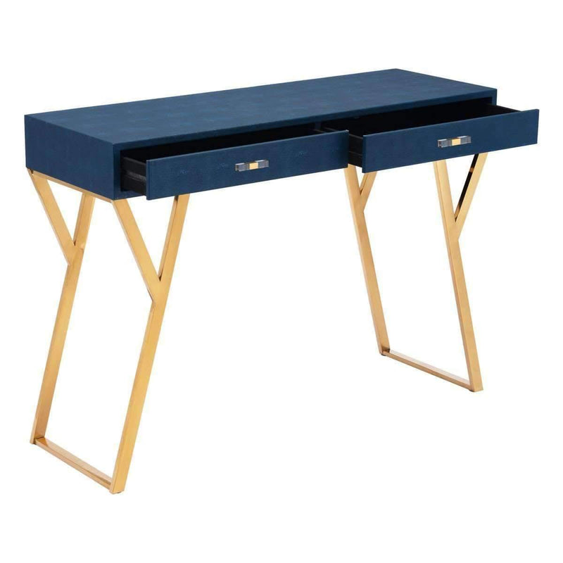 Modern Asti Console Table Navy Blue: Living Room Furniture- Shop MIXXCI