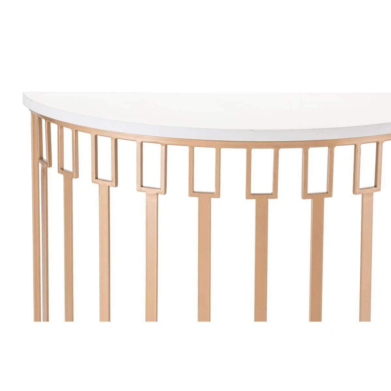 Modern Bars Console Table White & Gold: Living Room Furniture- Shop MIXXCI