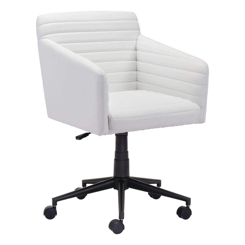 Modern Bronx Office Chair White, Default Title: Living Room Furniture- Shop MIXXCI