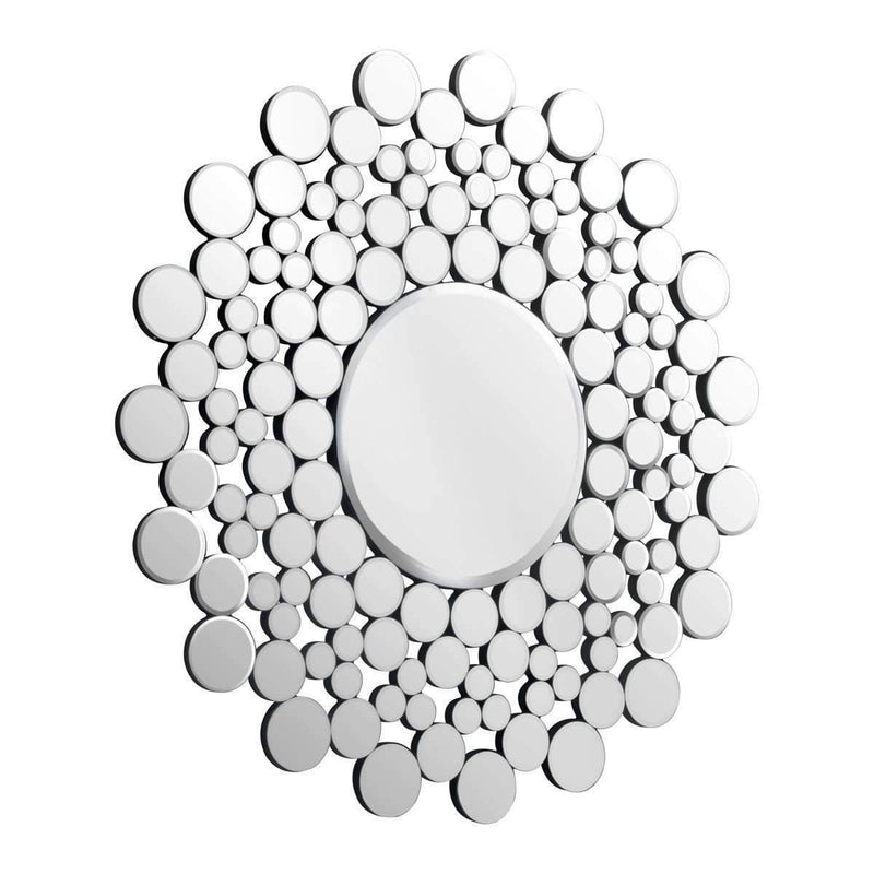 Modern Circles Round Mirror Clear, Default Title: Living Room Furniture- Shop MIXXCI