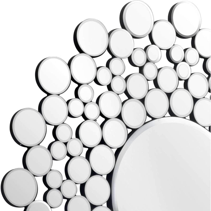 Modern Circles Round Mirror Clear: Living Room Furniture- Shop MIXXCI
