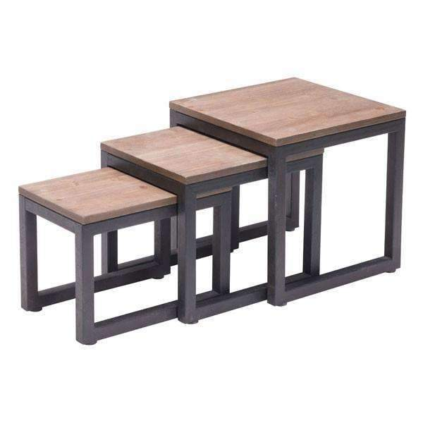 Modern Civic Center Nesting Tables, Default Title: Living Room Furniture- Shop MIXXCI