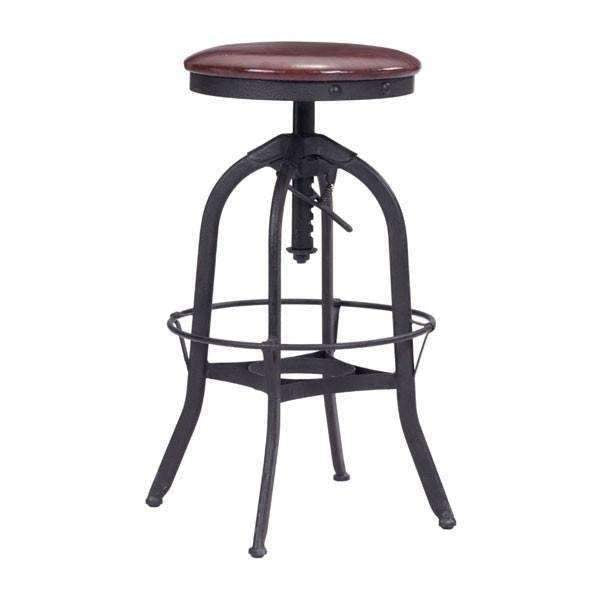 Modern Crete Barstool Burgundy & Antique Black, Default Title: Living Room Furniture- Shop MIXXCI