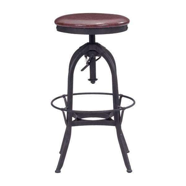 Modern Crete Barstool Burgundy & Antique Black: Living Room Furniture- Shop MIXXCI