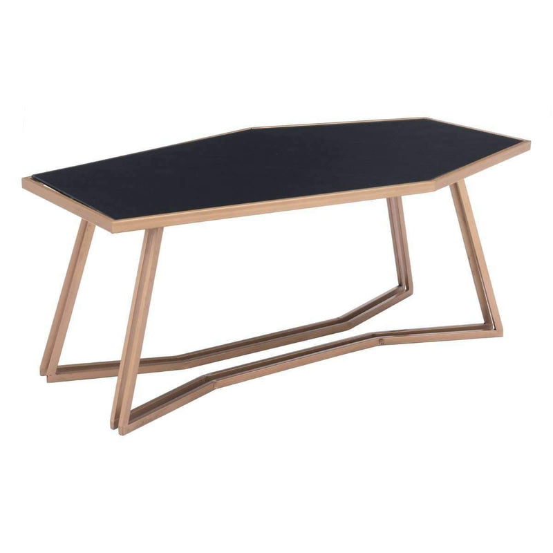 Modern Geo Coffee Table Black & Gold, Default Title: Living Room Furniture- Shop MIXXCI