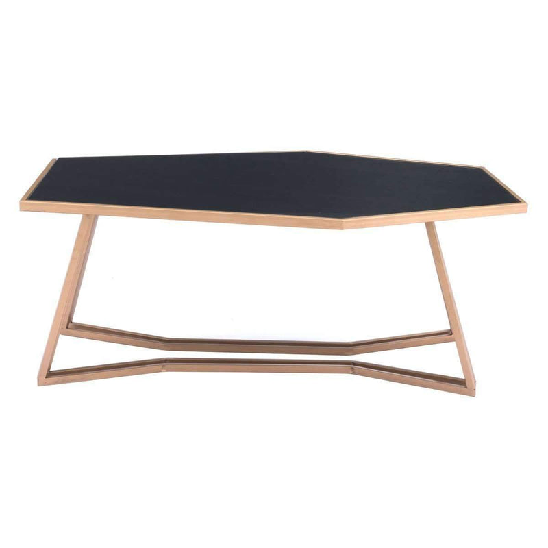 Modern Geo Coffee Table Black & Gold: Living Room Furniture- Shop MIXXCI