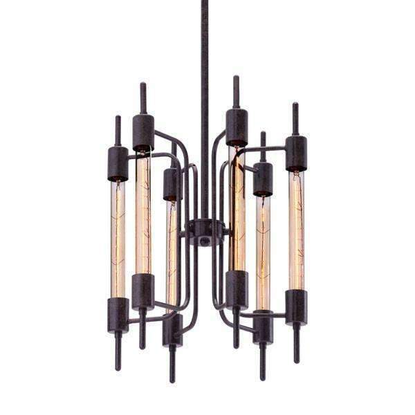 Modern Gisborne Ceiling Lamp Distressed Black: Living Room Furniture- Shop MIXXCI