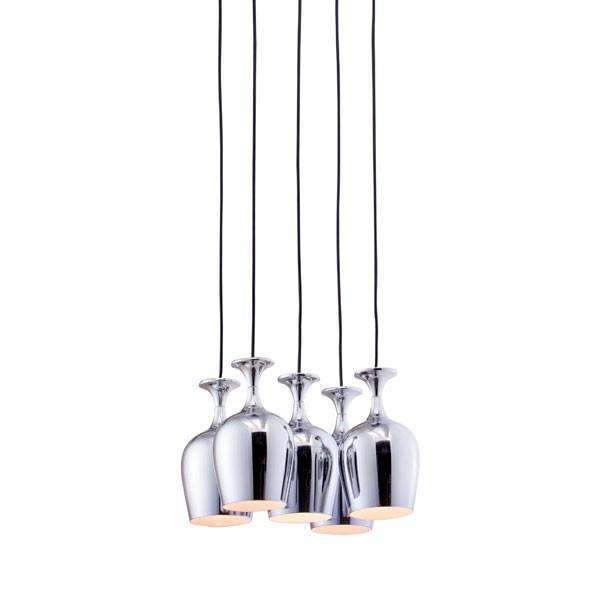 Modern Ice Ceiling Lamp Chrome, Default Title: Living Room Furniture- Shop MIXXCI