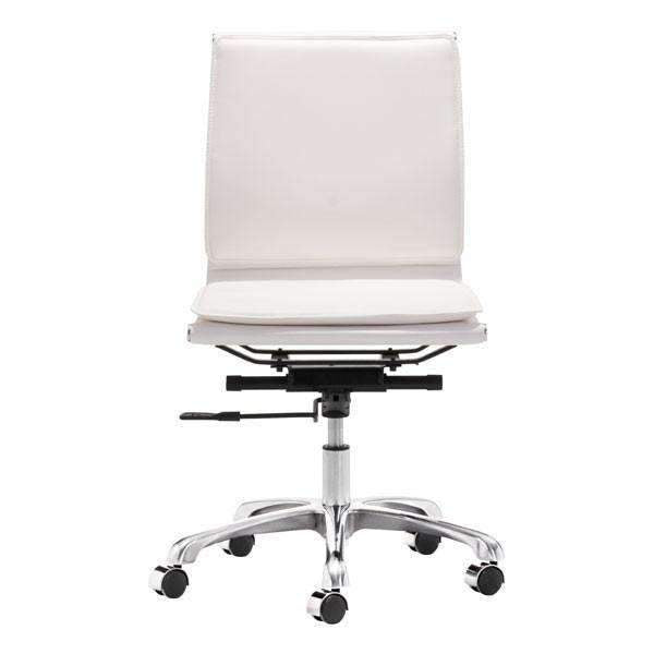 Modern Lider Plus Armless Office Chair White: Living Room Furniture- Shop MIXXCI