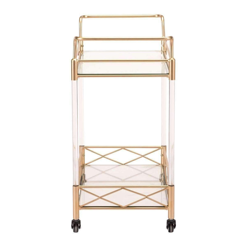 Modern Lucite Bar Cart Gold: Living Room Furniture- Shop MIXXCI