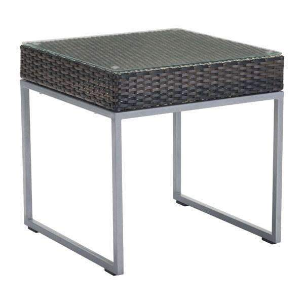 Modern Malibu Side Table Brown & Silver, Default Title: Living Room Furniture- Shop MIXXCI