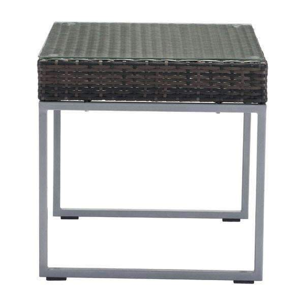 Modern Malibu Side Table Brown & Silver: Living Room Furniture- Shop MIXXCI