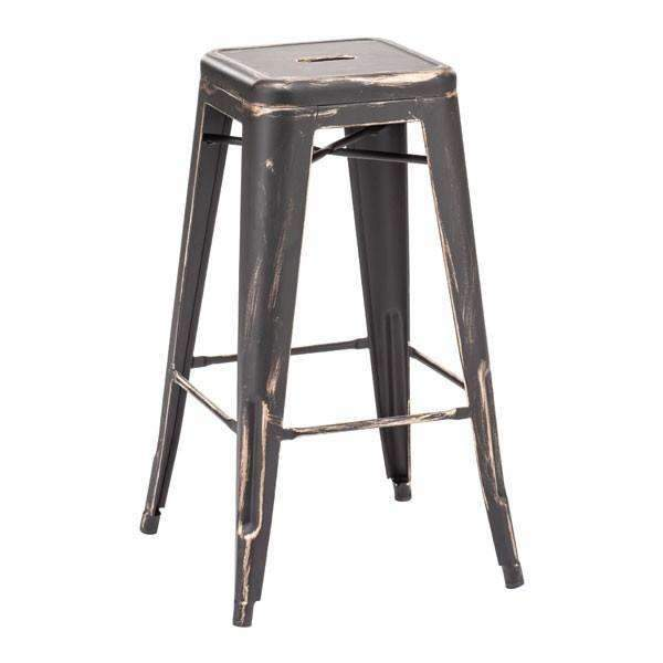 Modern Marius Barstool Antique Black Gold (Set of 2), Default Title: Living Room Furniture- Shop MIXXCI