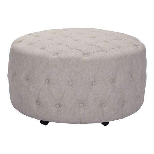 Modern Neal Ottoman Beige, Default Title: Living Room Furniture- Shop MIXXCI