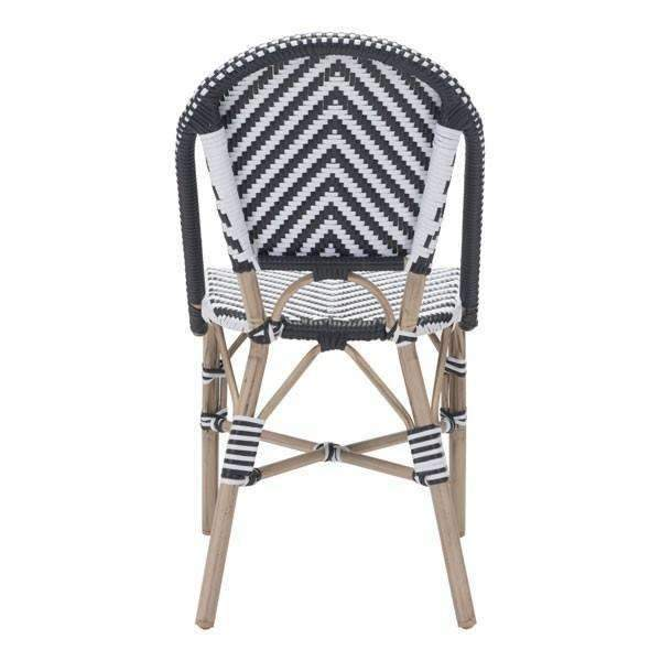 Modern Paris Dining Chair Black&White (Set of 2): Living Room Furniture- Shop MIXXCI