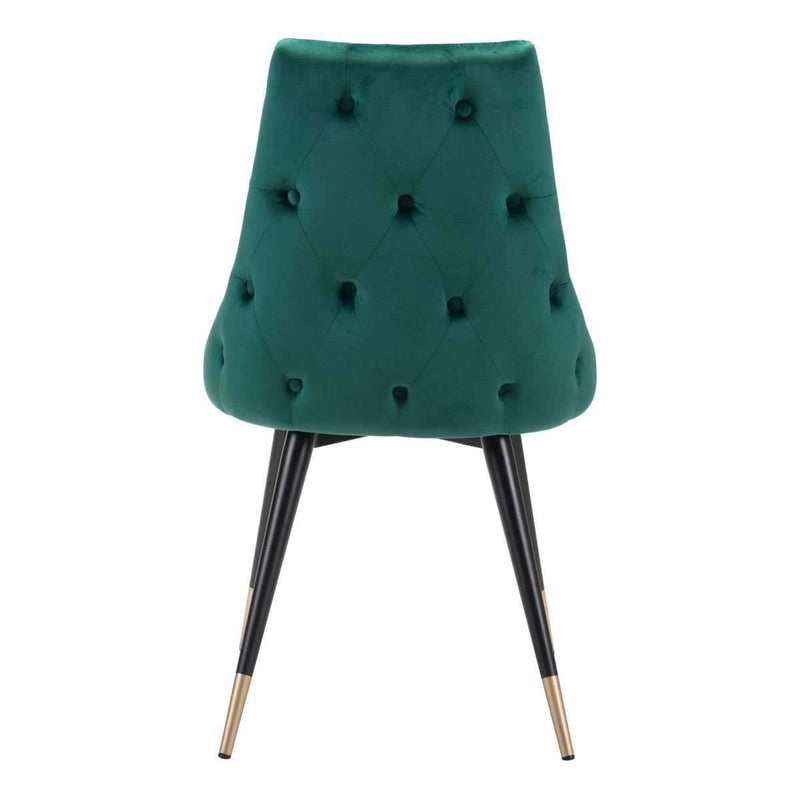 Modern Piccolo Dining Chair Green Velvet (Set of 2): Living Room Furniture- Shop MIXXCI