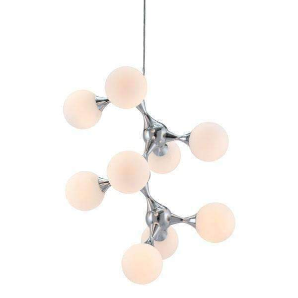 Modern Pomegranate Ceiling Lamp White & Chrome: Living Room Furniture- Shop MIXXCI