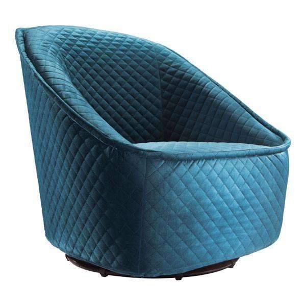 Modern Pug Swivel Chair Aquamarine, Default Title: Living Room Furniture- Shop MIXXCI