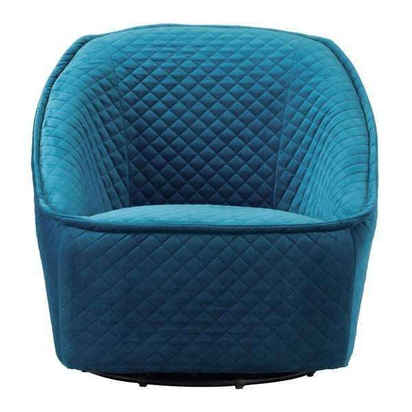 Modern Pug Swivel Chair Aquamarine: Living Room Furniture- Shop MIXXCI