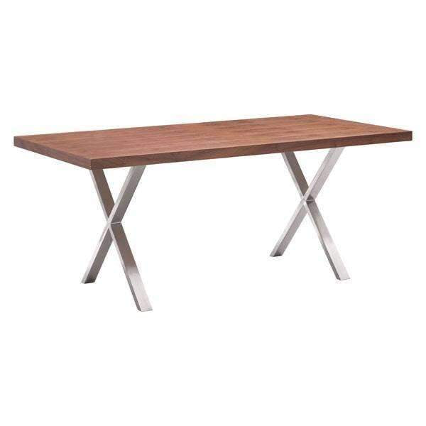 Modern Renmen Dining Table Walnut, Default Title: Living Room Furniture- Shop MIXXCI