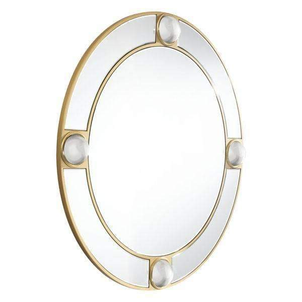 Modern Round Lucite Mirror Mirror And Lucite, Default Title: Living Room Furniture- Shop MIXXCI