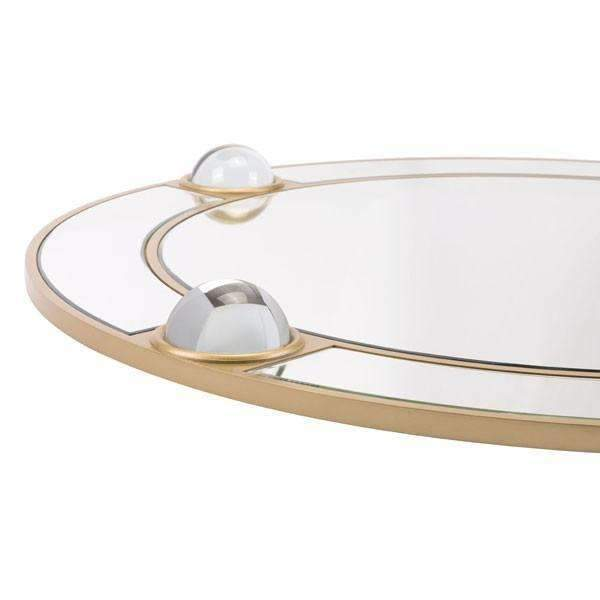 Modern Round Lucite Mirror Mirror And Lucite: Living Room Furniture- Shop MIXXCI