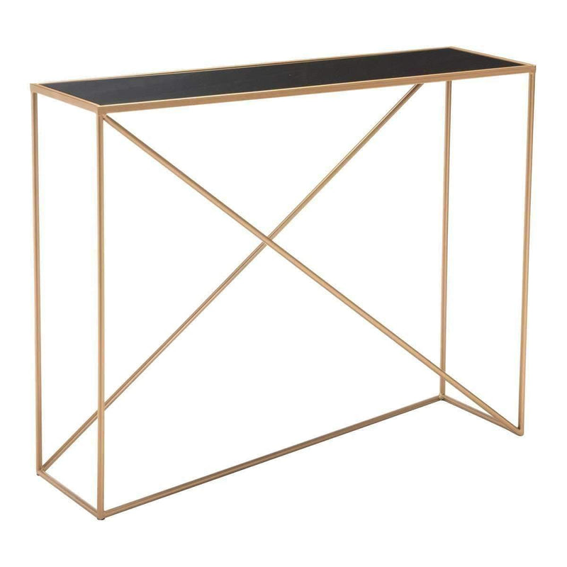 Modern Sixty Console Table Black & Gold, Default Title: Living Room Furniture- Shop MIXXCI