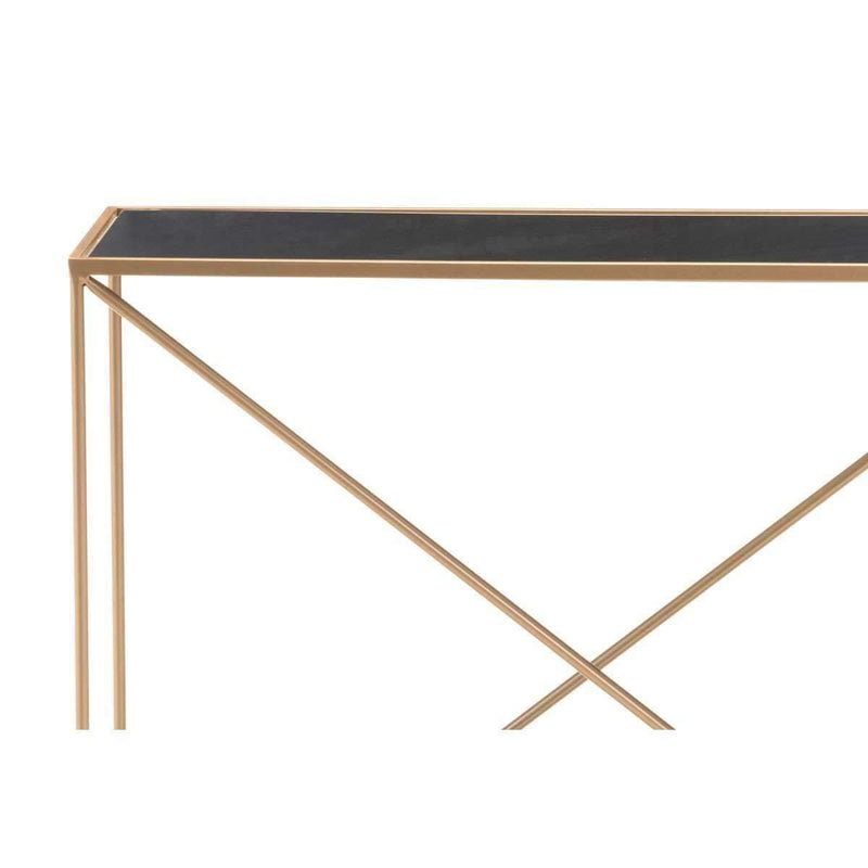 Modern Sixty Console Table Black & Gold: Living Room Furniture- Shop MIXXCI