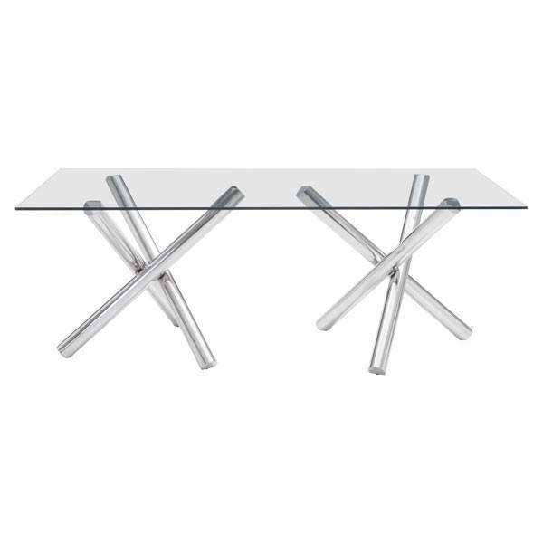 Modern Stant Rectangular Dining Table: Living Room Furniture- Shop MIXXCI