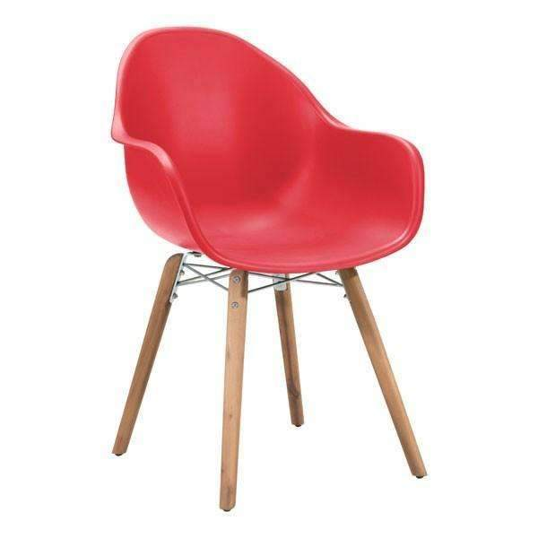 Modern Tidal Dining Chair Red (Set of 4), Default Title: Living Room Furniture- Shop MIXXCI