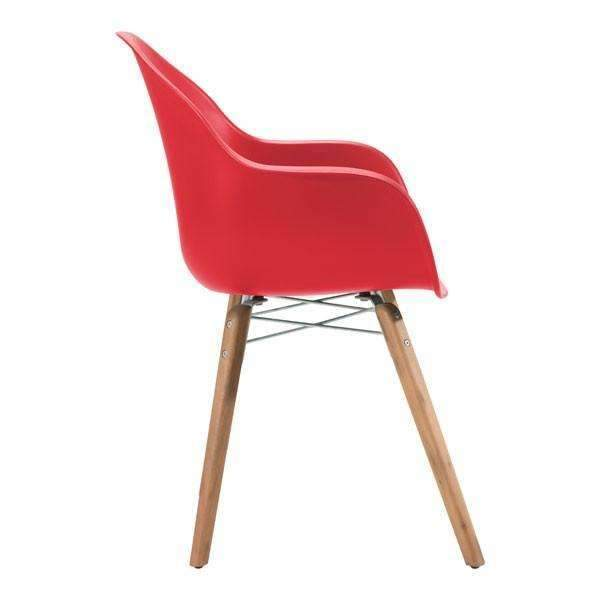 Modern Tidal Dining Chair Red (Set of 4): Living Room Furniture- Shop MIXXCI