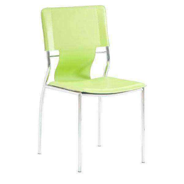 Modern Trafico Dining Chair Green (Set of 4), Default Title: Living Room Furniture- Shop MIXXCI
