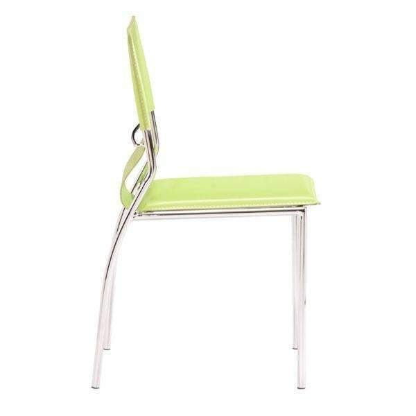 Modern Trafico Dining Chair Green (Set of 4): Living Room Furniture- Shop MIXXCI