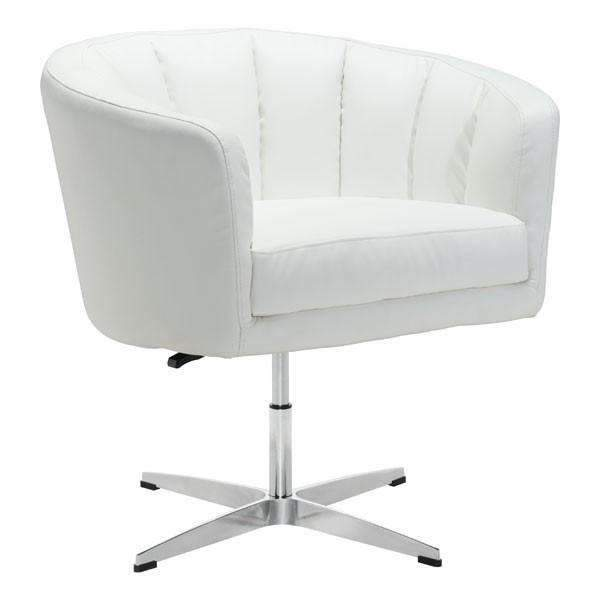 Modern Wilshire Occasional Chair White Pu, Default Title: Living Room Furniture- Shop MIXXCI