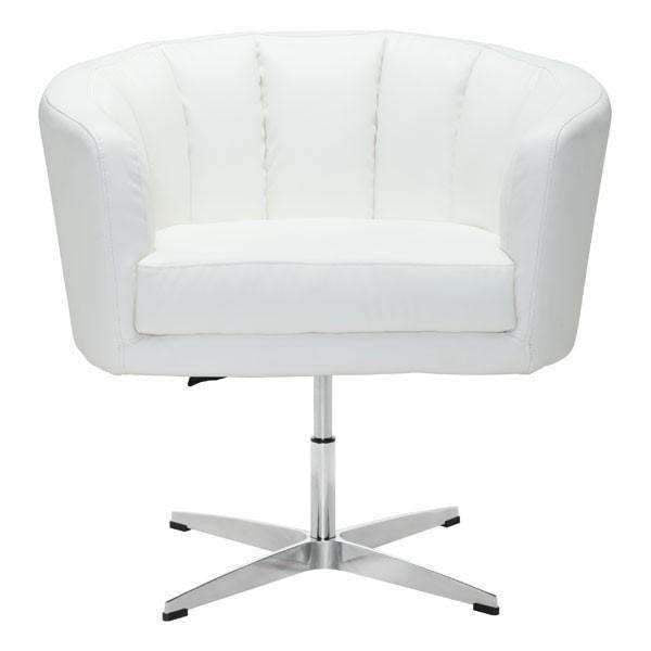 Modern Wilshire Occasional Chair White Pu: Living Room Furniture- Shop MIXXCI